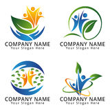 Environment, Ecology, Wellness, Nature, Agriculture and Natural Concept Logo Stock Image