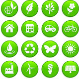 Environment elements icon set Stock Photo