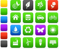 Environment elements icon set Royalty Free Stock Photo