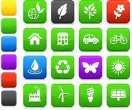 Environment elements icon set. Original illustration: environment elements icon set Royalty Free Stock Photo