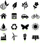 Environment elements icon set Royalty Free Stock Images