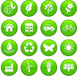 Environment elements icon set Stock Photography