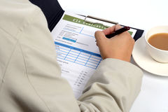 Environment evaluation form. Royalty Free Stock Photo