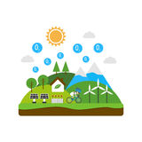 Environment flat Royalty Free Stock Images