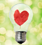 Environment friendly bulb Stock Photos