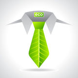 Environment friendly business concept with leaf Stock Photography