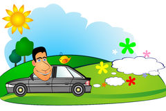 Environment friendly car Stock Images