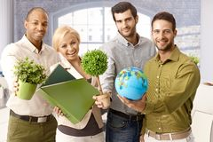 Environment friendly cheerful businessteam Royalty Free Stock Photo