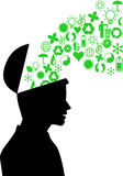 Environment friendly mind Stock Image