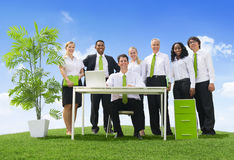 Environment Friendly Office. People in a environment friendly office royalty free stock photo