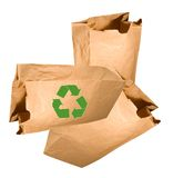 Environment-friendly paper bag Royalty Free Stock Photos