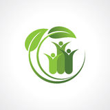 Environment friendly symbol with leaf Royalty Free Stock Image