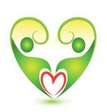 Environment green couple plant figures logo. Green couple plant figures icon vector design Royalty Free Stock Image