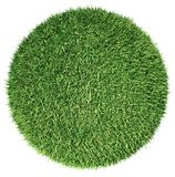 Environment: green fresh grass globe or planet isolated. On white Royalty Free Stock Images