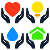 Environment hands signs vector illustration