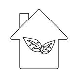 Environment house ecology construction symbol thin line Royalty Free Stock Images