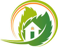 Environment house logo Royalty Free Stock Images