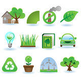 Environment icon set Stock Photo