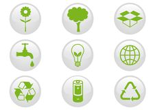 Environment Icon Set. stock photos