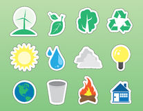 Environment Icon Stickers Stock Photography
