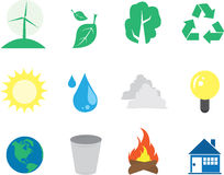 Environment Icons Stock Photography
