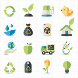 Environment icons. This image is a vector illustration Royalty Free Stock Images