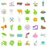 Environment icons set, cartoon style Stock Photos