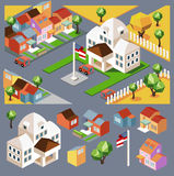 Environment isometric and buildings Royalty Free Stock Photos