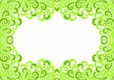 Environment Jungle Leafs Border Frame. Border frame with green leafs relating to environmental issues. Go green concept Stock Photography