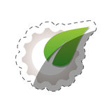 Environment leave gear design. Illustration eps 10 Royalty Free Stock Images
