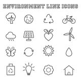 Environment line icons Royalty Free Stock Image