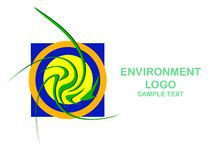 Environment logo Royalty Free Stock Images
