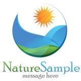 Environment Logo. Eco Environment logo green symbol illustration Royalty Free Stock Images
