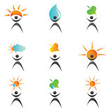 Environment logos and icons Stock Image