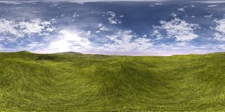 Environment map ,HDRI High resolution map. Round panorama, spherical panorama, equidistant projection, land under heaven Stock Photography