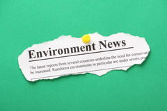 Environment News Royalty Free Stock Photography