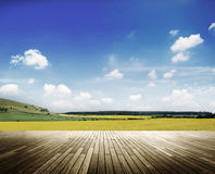Environment Peaceful Meadow Countryside Cloudscape Concept Stock Images