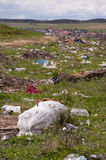 Environment pollution - dumping near village Stock Photography