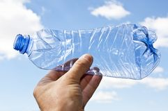 Environment pollution by plastics Royalty Free Stock Image