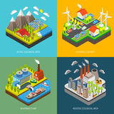Environment Pollution and Protection Stock Images