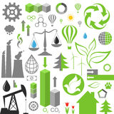 Environment pollution. Set of infographics elements. Isolated objects on white background. Vector illustration (EPS 10 Royalty Free Stock Photography