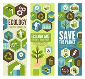 Environment protection banner for eco concept Royalty Free Stock Photography