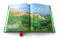 Environment protection book Stock Photo