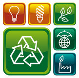 Environment protection buttons Stock Photo
