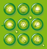 Environment protection buttons Royalty Free Stock Photo