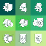 Environment Protection Icon Stock Photography