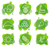 Environment protection icons Royalty Free Stock Photos