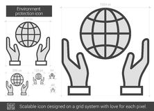 Environment protection line icon. Royalty Free Stock Photos