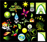 Environment recycle Icon set Royalty Free Stock Images
