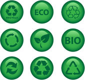Environment and recycle icons Stock Photography